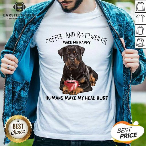 Fantastic Coffee And Rottweiler Head Shirt