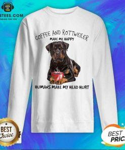 Fantastic Coffee And Rottweiler Head Sweatshirt