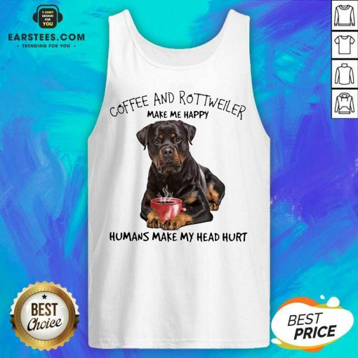 Fantastic Coffee And Rottweiler Head Tank Top
