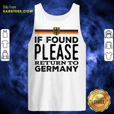 Fantastic Found Return Germany Great Tank Top