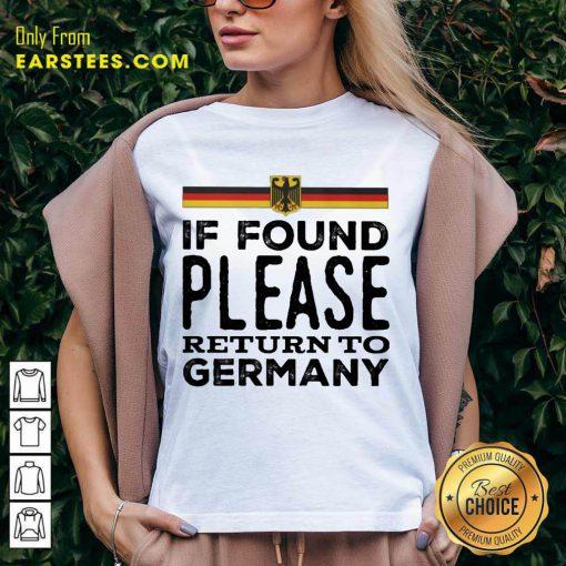 Fantastic Found Return Germany Great V-neck