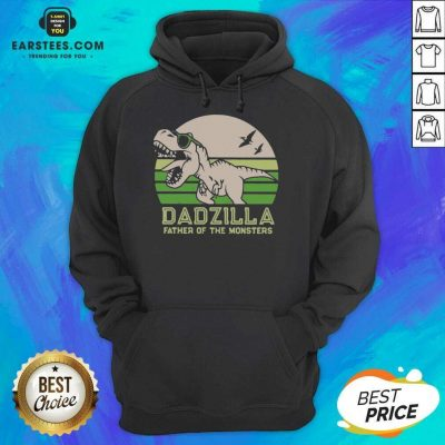 Funny Dinosaurs Dadzilla Father Great 8 Hoodie