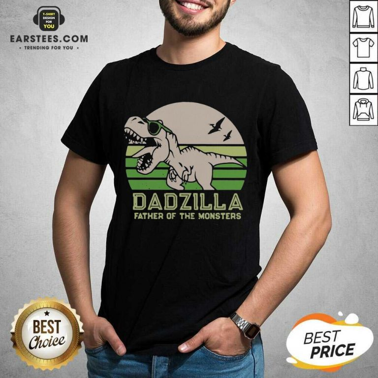 Funny Dinosaurs Dadzilla Father Great 8 Shirt