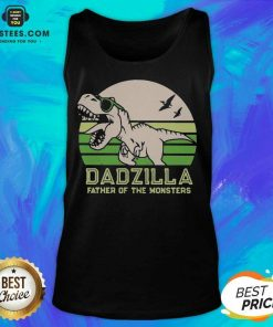 Funny Dinosaurs Dadzilla Father Great 8 Tank Top