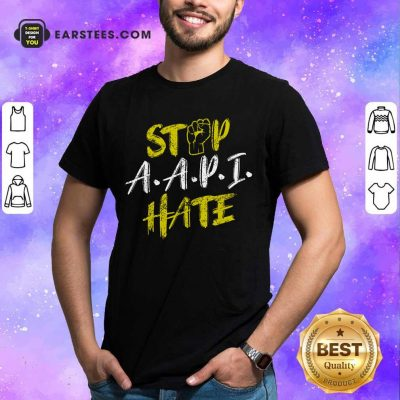 Funny Stop A.A.P.I Hate Hand Relaxed Shirt