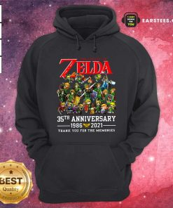 The Legend Of Zelda 35th Anniversary 1986 2021 Thank You For The Memories Hoodie- Design By Earstees.com