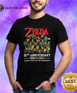 The Legend Of Zelda 35th Anniversary 1986 2021 Thank You For The Memories Shirt- Design By Earstees.com