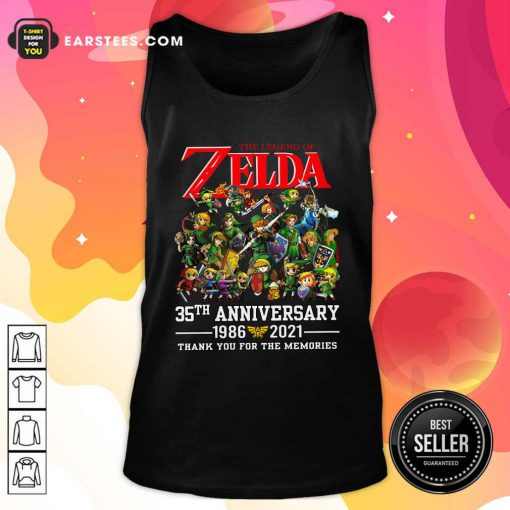 The Legend Of Zelda 35th Anniversary 1986 2021 Thank You For The Memories Tank Top- Design By Earstees.com