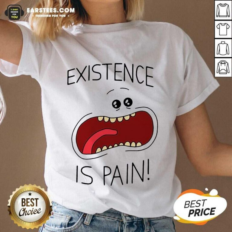 Good Existence Is Pain Enthusiastic V-neck