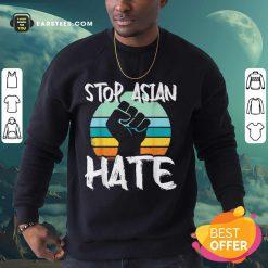 Good Stop Asian Hate Hand Vintage Sweatshirt