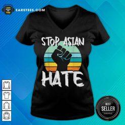 Good Stop Asian Hate Hand Vintage V-neck