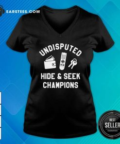 Undisputed Hide And Seek Champions V-neck- Design By Earstees.com