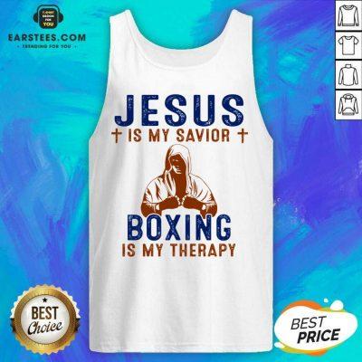 Happy Jesus Savior Boxing Therapy Great Tank Top