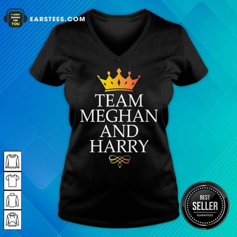 Happy Team Meghan And Harry Wonderful 5 V-neck