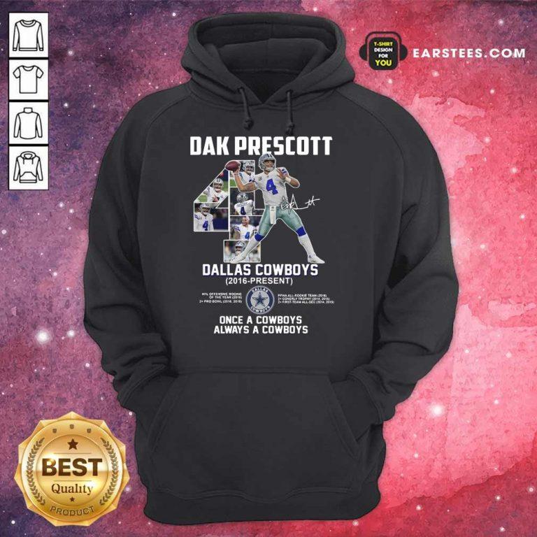 Hot Dak Prescott 4 Dallas Cowboys 2016 Hoodie