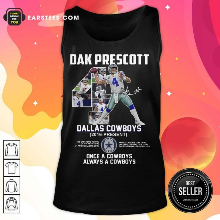 Hot Dak Prescott 4 Dallas Cowboys 2016 Tank Top