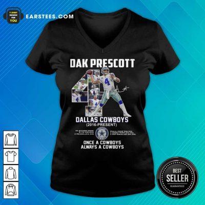 Hot Dak Prescott 4 Dallas Cowboys 2016 V-neck