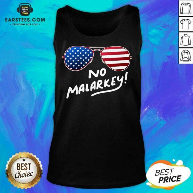 Hot Glasses American Flag No Malarkey 2 Tank Top