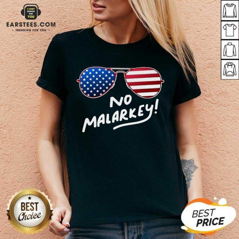 Hot Glasses American Flag No Malarkey 2 V-neck