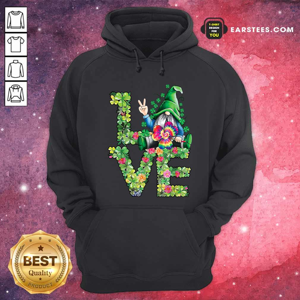 Love Hippie Gnome Happy St Patricks Day Hoodie- Design By Earstees.com