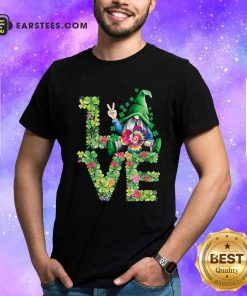 Love Hippie Gnome Happy St Patricks Day Shirt- Design By Earstees.com