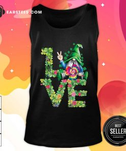 Love Hippie Gnome Happy St Patricks Day Tank Top- Design By Earstees.com