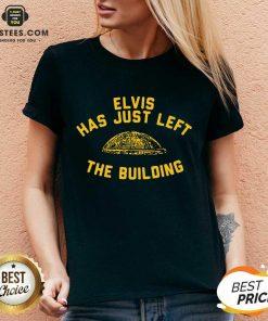 Nice Elvis Has Just Left Building Great V-neck