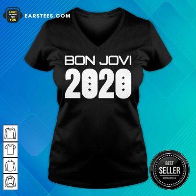 Nice Jerry Braden Bon Jovi 2020 Great V-neck