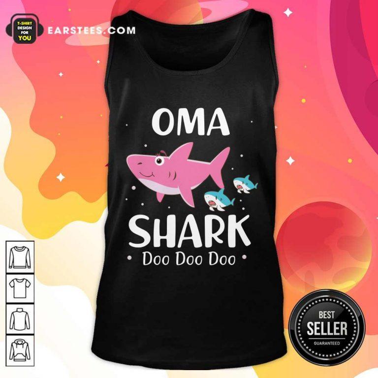 Oma Shark Doo Doo Mother Day Tank Top- Design By Earstees.com