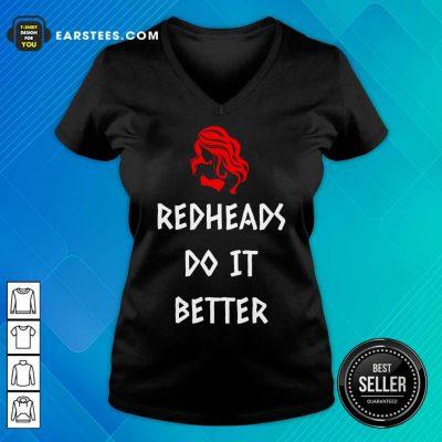 Nice Redheads Do It Better Girl V-neck