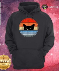 Nice Retro Black Cat Confident Great 45 Hoodie