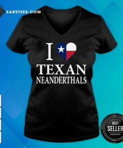 Official I Love Texan Neanderthals 2 V-neck