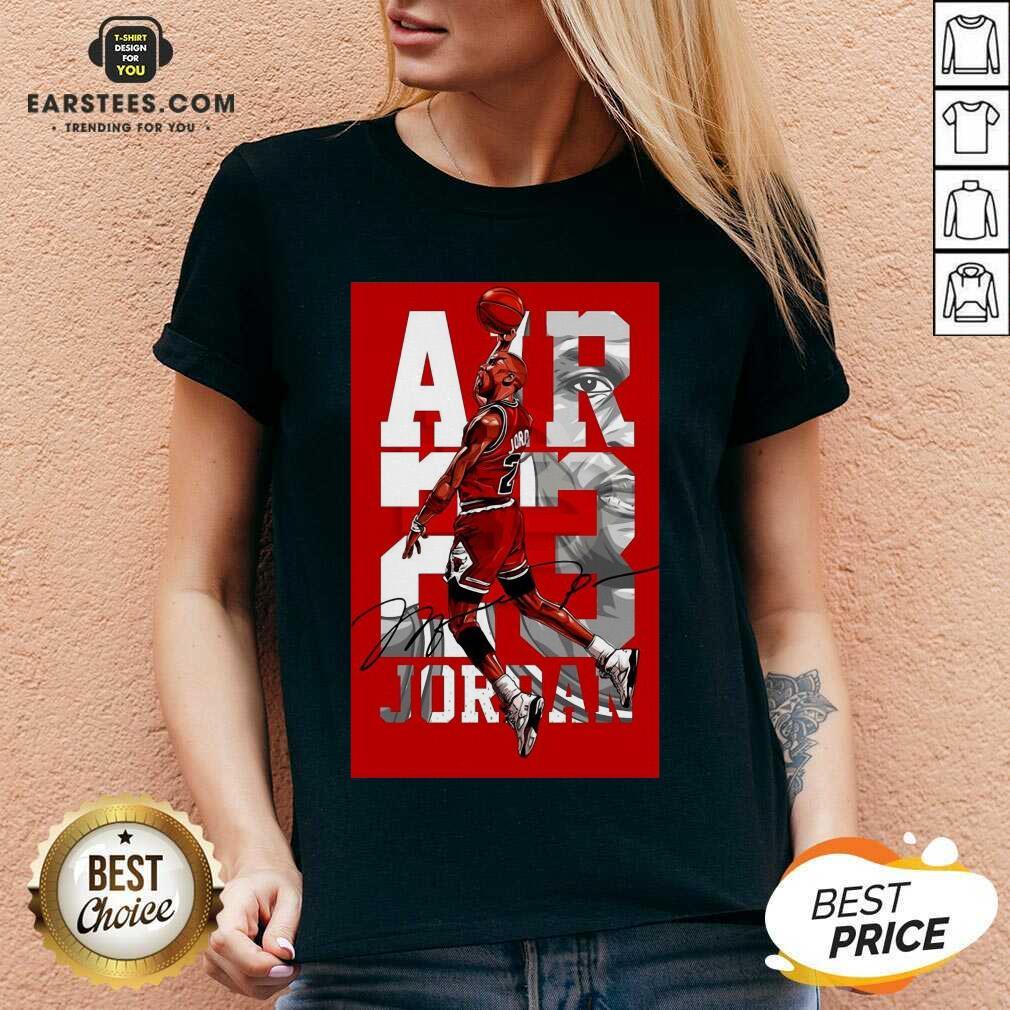 Original Air 23 Michael Jordan Poster V-neck
