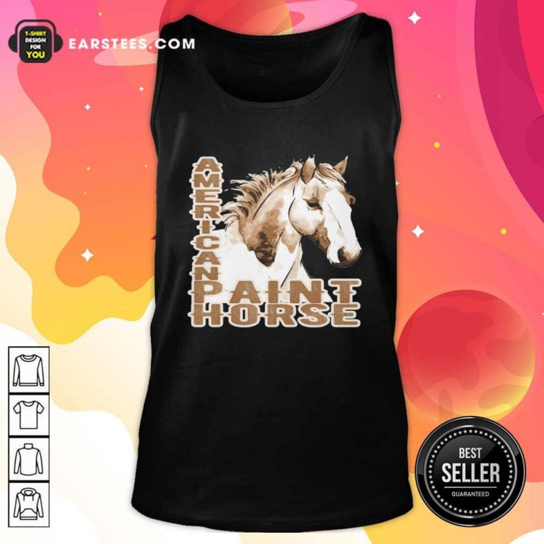 Paint Horse American Tank Top- Design By Earstees.com