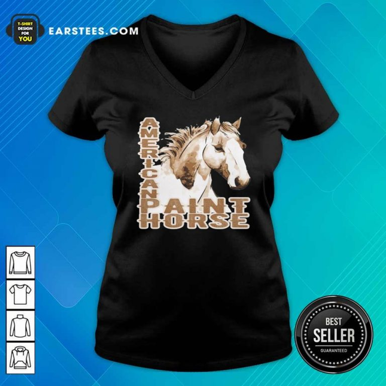 Paint Horse American V-neck- Design By Earstees.com