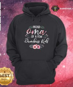 Proud Oma Of A Few Dumbass Kids Hoodie- Design By Earstees.com