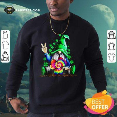 Hippie Gnome Happy Patricks Day Sweatshirt- Design By Earstees.com