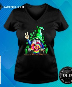 Hippie Gnome Happy Patricks Day V-neck- Design By Earstees.com