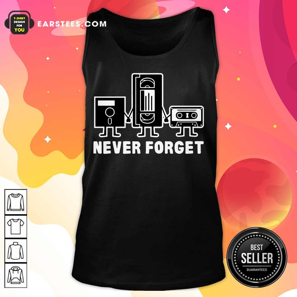 Perfect Retro Vintage Forget Cassette 6 Tank Top