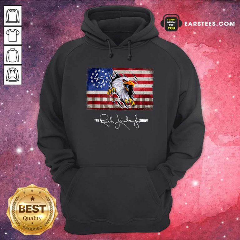 The Rush Limbaugh Show American Flag Hoodie- Design By Earstees.com