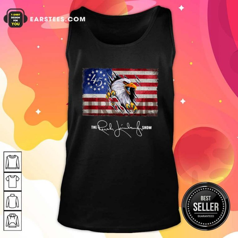 The Rush Limbaugh Show American Flag Tank Top- Design By Earstees.com