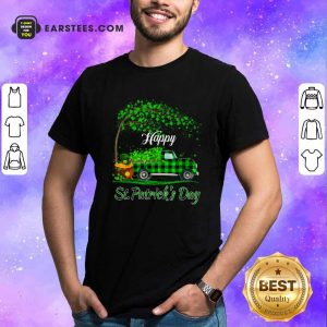 Happy Patricks Day Truck Shamrock Shirt- Design By Earstees.com