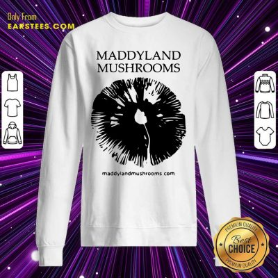 Maddyland Mushrooms With Black Image Sweatshirt- Design By Earstees.com