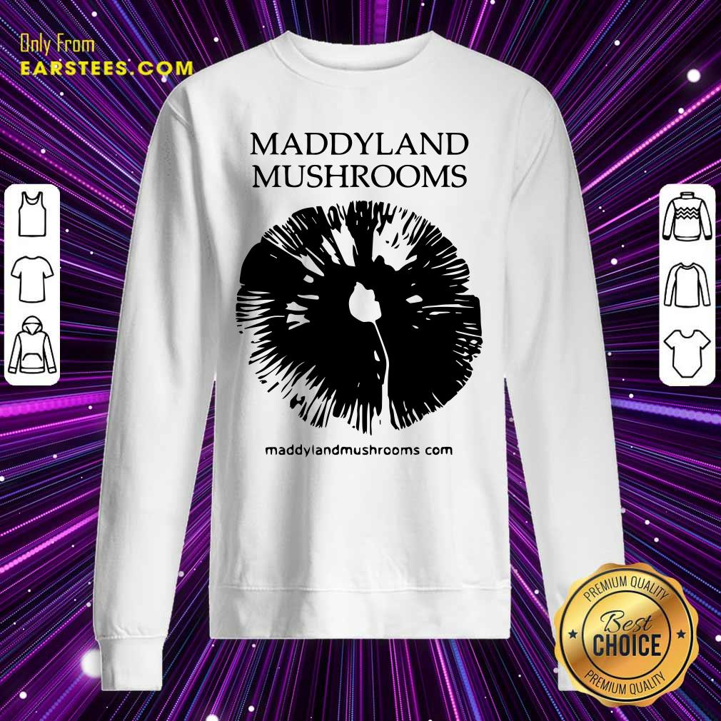 Maddyland Mushrooms With Black Image Sweatshirt- Design By Earstees.com