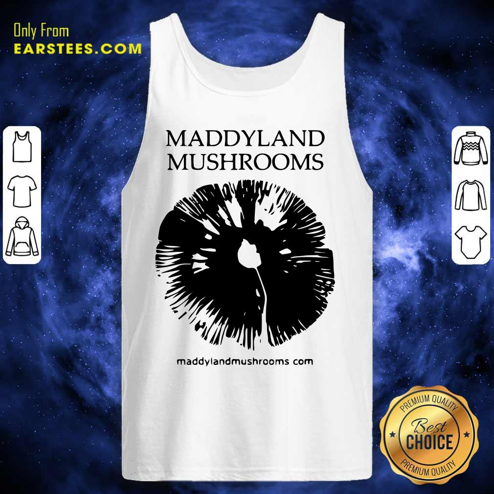 Maddyland Mushrooms With Black Image Tank Top- Design By Earstees.com