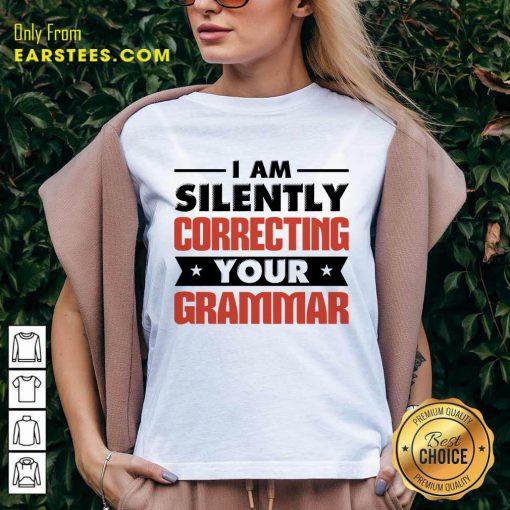 Premium Silently Correcting Grammar V-neck