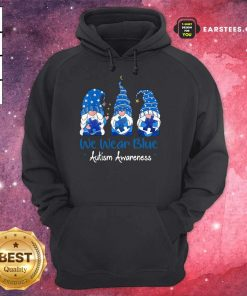 Pretty 3 Great Gnomes Holding Blue Hoodie