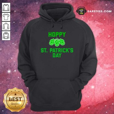 Green Pineal Happy Patricks Day Hoodie- Design By Earstees.com