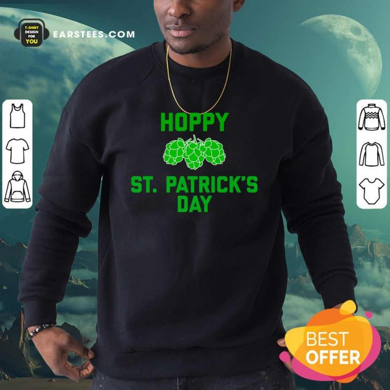 Green Pineal Happy Patricks Day Sweatshirt- Design By Earstees.com