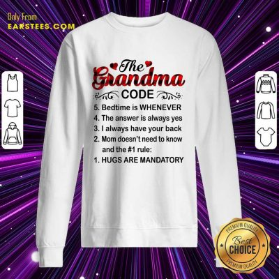 The Grandma Code Mother Day Sweatshirt- Design By Earstees.com